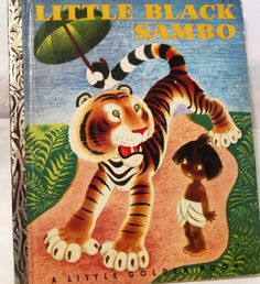 "Vintage 1940s Little Black Sambo, A Little Golden Book-RARE ""I"" Edition, collectible children's book. by BusyGirlVintage"