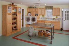 Large and organized laundry room-Home and Garden Design Ideas