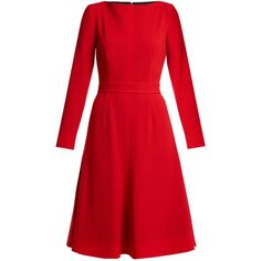 Emilia Wickstead Kate A-line wool-crepe dress ($1,825) ❤ liked on Polyvore featuring dresses and emilia wickstead