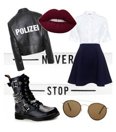 """""""rock yourself"""" by dinuelena on Polyvore featuring Paul & Joe Sister, Demonia, Vetements and Ray-Ban"""