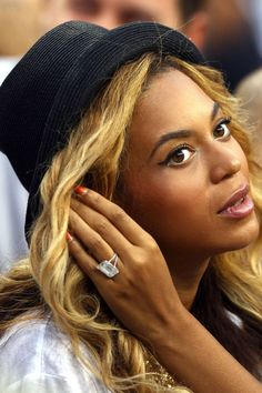 Beyonce and other's shine in our favorite celebrity engagement rings. See them all, here: