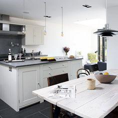 White and grey industrial kitchen   Kitchen decorating   Beautiful Kitchens   Housetohome.co.uk