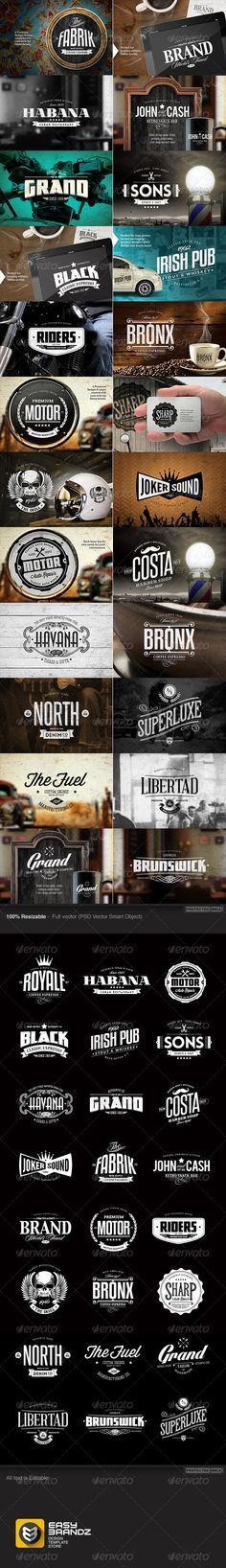 24 Badges & Logos Bundle - Badges & Stickers Web Elements