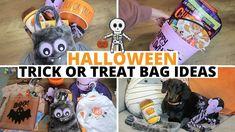 #halloween #trickortreatbucket #halloweendecor Halloween Inspo, Halloween Trick Or Treat, Trick Or Treat Bags, Gift Bags, Halloween Decorations, Treats, Gifts, Trick Or Treat, Sweet Like Candy
