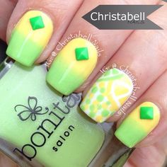 This yellow and green combo is what you're looking for when you want a refreshing and soothing design. The ombre design and even the polka dots still doesn't break the soothing effect.