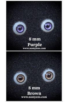 ::. 𝐃𝗼𝐥𝐥 𝐞𝐲𝐞 .:: • Purple : 8 mm • Brown : 8 mm www.nomyens.com #bjd #abjd #balljointdoll #dollofstargram #instadoll #dollstargram #toy #paint #painting #painted #repaint #handmade #nomyens #nomyensfaceup #bjdeye #bjdeyes #dolleyes #dolleye #dolleyecaft Star G, Doll Eyes, Ball Jointed Dolls, Bjd, Cosmetics, Purple, Brown, Handmade, Painting