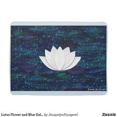 Lotus Flower and Blue Galaxy Baby Blanket #business #art #gift #baby #illustration #zazzle