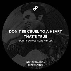 My heart is true.  #8fact #8factlyrics #lyrics #music #classic #elvispresley by 8factlyrics