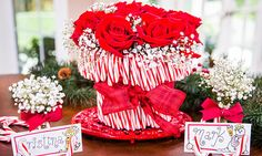 @cristinacooks  crafts a whimsical, fun cane vase  place card holders! #christmaskeepsake #christmas #candycanes #centerpiece #homeandfamily #homeandfamilytv