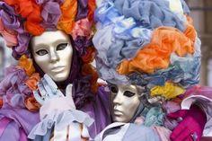 Venetian couple in costume