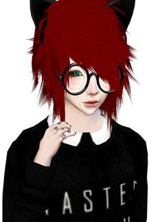 Red imvu Boy Kawaii Neko
