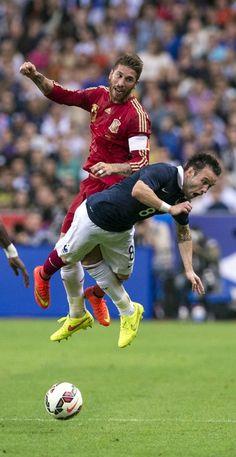 Ramos, en el España-Francia de 2014. #seleccionespanola #LaRoja #diariodelaroja