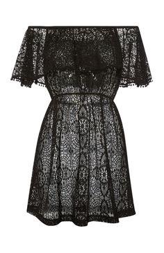 7b3eed9e67e82 Primark - Black Lace Bardot Dress Bardot Kleid