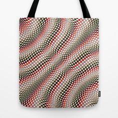 Vertigo Check Tote Bag by patterndesign - $22.00