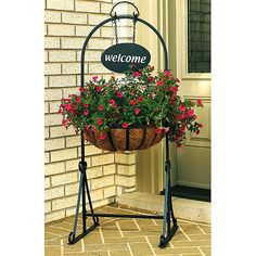 Welcome Garden Planter, Black a great way to welcome our new guests for a #SummerToRemember