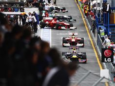 The wait is over! Drivers take to the track for practice 1 during the 2012 Australian Grand Prix.