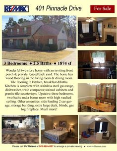 Wonderful two story home with an inviting front porch and private fenced backyard. Two Story Homes, Second Story, Little Rock, Front Porch, Fence, Tile Floor, Real Estate, Backyard, Wood