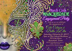 Masquerade Party Masquerade Invitation Mardi Gras by BellaLuElla, $12.00