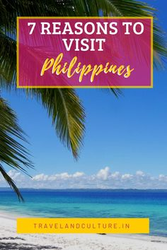 7 reasons to visit Philippines. #philippines #asia #travelandculture #travel #wanderlust Beach Vacations, Florida Vacation, Florida Travel, Beach Trip, Visit Philippines, Philippines Travel, Gulf Coast Beaches, Exotic Beaches, Paradise On Earth