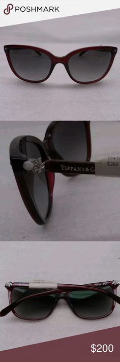 ♦NEW♦Tiffany & Co Sunglasses w/ case. Tiffany TF4105HB 8003 Burgundy Sunglasses Gray Gradient Lenses. These do come with a Tiffany & Co Blue case. Please see all photos for full description and details.  These are stunning in person!  No trades. No modeling.  No low offers. Thank you. Tiffany & Co. Accessories Sunglasses