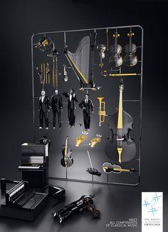 Meet all Components of Classical Music. by Martín De Pasquale, via Behance