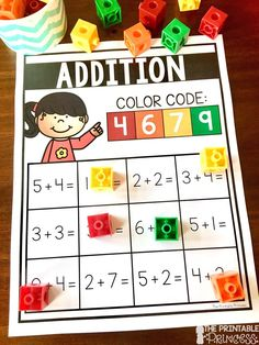 Check out this activity to practice addition and subtraction! Includes 24 different practice pages. Just print and slide in page protectors. Students solve the equations and use the color code at the top to show their answers.