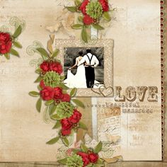 Addon Kit Memories Live Forever by Palvinka Designs. Template Vintage Charm #5 by Heartstrings Scrap Art.
