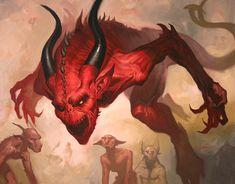 The gorgeous fantasy paintings of Lucas Graciano. artist Lucas Graciano creates stunning fantasy themed artwork and illustrations. Mtg Art, Fantasy Art, Freelance Artist, Fantasy Illustration, Angels And Demons, Art, Dark Art, Card Art, Satan