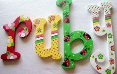 Letras infantiles Letras de madera sala de juegos por PoshDots