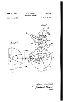 Patent US2528284 - Mechanical computer - Google Patents