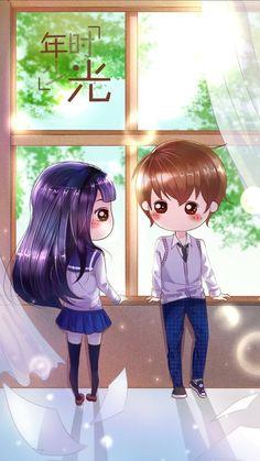 รูปภาพ art girl, beautiful, and sweet girl Cute Chibi Couple, Cute Couple Cartoon, Cute Love Cartoons, Cute Cartoon, Kawaii Chibi, Kawaii Cute, Kawaii Girl, Anime Chibi, Cool Anime Girl