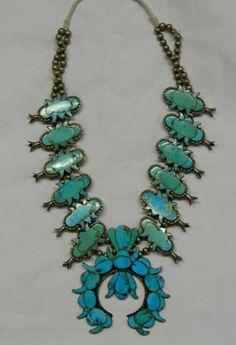 Uquine Neese squash blossom necklace, courtesy Bill Richardson