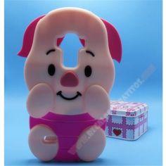 Divertida Carcasa 3D silicona de muñeco cerdito rosa para LG G4 Stylus