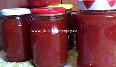 Rajčatová marmeláda | recept na netradiční zavařeninu Salsa, Jar, Food, Red Peppers, Essen, Salsa Music, Meals, Yemek, Jars