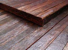 Deck de Dormentes - Madeira de demolição - COBRIRE Construções em Madeira
