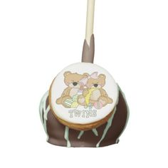 Baby shower or gender reveal party. Celebrate with these special cake pops. Thanksgiving Cake Pops, Thanksgiving Gifts, Family Reunion Cakes, Chocolate Cake Pops, Twins Cake, Baby Shower Cake Pops, Caramel Apples, Amazing Cakes, Pink Girl