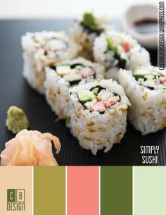 Simply Sushi | Color Blocks Design 10.9.12