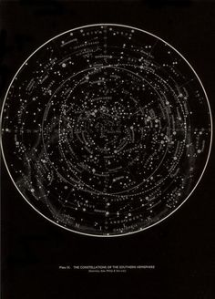 Plate IX. The constellations of the Southern Hemisphere. Larousse Encyclopaedia of Astronomy. 1962.