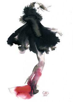 ZsaZsa Bellagio: fashion illustration