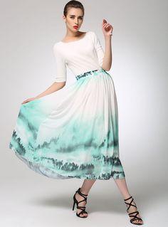 Maxi chiffon skirt women summer long skirt prom skirt by xiaolizi