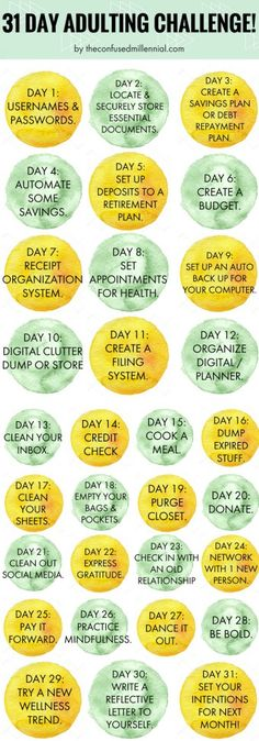 """Day Adulting Challenge *could this be weekly, not daily? day adulting challenge, how to get your life together as an adult.""""*could this be weekly, not daily? day adulting challenge, how to get your life together as an adult. Get Your Life, Organize Your Life, Organize Fridge, Retirement Budget, Up Auto, Life Hacks, Get My Life Together, 30 Day Challenge, Thigh Challenge"""
