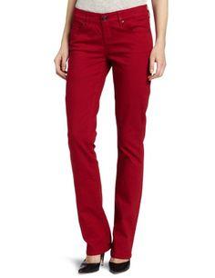 Isaac Mizrahi Jeans Women's Emma Straight Leg Jean, Crimson, 10 buy at http://www.amazon.com/dp/B0090AUIJE/?tag=bh67-20