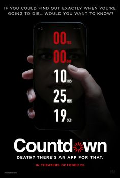 When does Countdown come out on DVD and Blu-ray? DVD and Blu-ray release date set for January Also Countdown Redbox, Netflix, and iTunes release dates. Countdown, an app that? Charlie Mcdermott, Countdown Wallpaper, Jeepers Creepers 3, Multiplex Cinema, Toy Story, Zone Telechargement, Elizabeth Lail, Rambo, Trailer Oficial