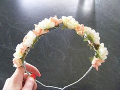 Peach hair garland- $15