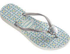 Inspired by colonial buildings in northeastern Brazil, this sandal mimics the traditional Portuguese style with the metal and resin charm that looks like the authentic Brazilian tiles!