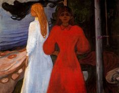 Red and White, 1900, Edvard Munch  Size: 93.5x129.5 cm Medium: oil on canvas