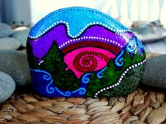 Peace at Twilight / Painted Rock/ Sandi Pike by LoveFromCapeCod, $48.00