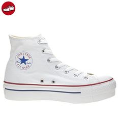 Converse Chuck Taylor All Star Femme Platform HI, Damen Kurzschaft Stiefel  , Weiß - Optical