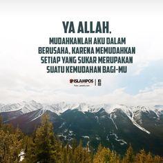 Mudahkanlah Aku dalam Berusaha Reminder Quotes, Self Reminder, Self Quotes, Words Quotes, Muslim Quotes, Islamic Quotes, Positive Words, Positive Quotes, Good Morning Inspiration