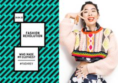 Fashion Revolution Day 2015 Who Made My Clothes? Photographer: Rachel Manns Photography Stylist: Alice Wilby Hair and make up: Khandiz Joni Nails: Moneet Heyer Models: Rina Sawayama from Anti-Agency Join Fashion, Fashion Hub, Slow Fashion, Fashion Brands, Ethical Fashion Show, Ethical Clothing, Textiles, Blue Jeans, Campaign Fashion